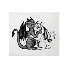 Dragon Lovepair Throw Blanket