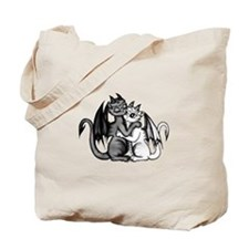 Dragon Lovepair Tote Bag