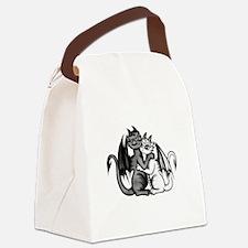 Dragon Lovepair Canvas Lunch Bag