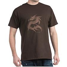 [JUNKIE STYLE] DRAGON - Brown T-Shirt