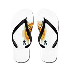 Smiley Emoticon From Hell Flip Flops