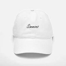 Simmons surname artistic design Baseball Baseball Cap