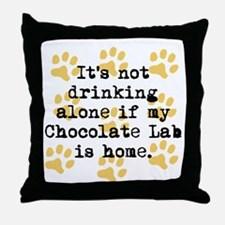 If My Chocolate Lab Is Home Throw Pillow