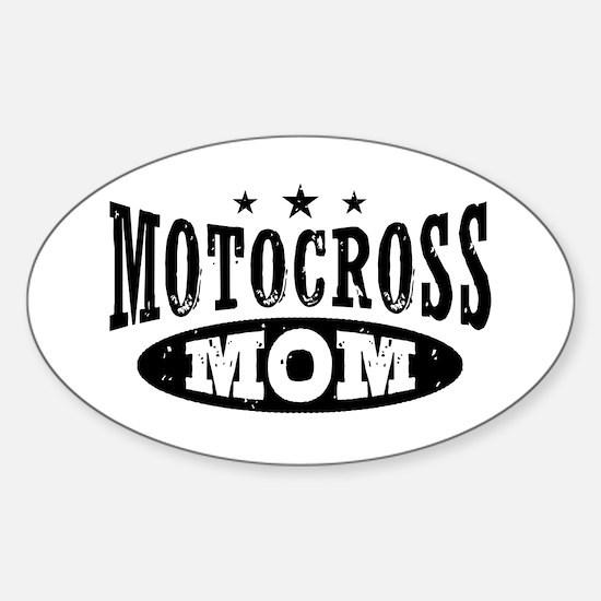 Motocross Mom Sticker (Oval)