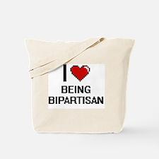 I Love Being Bipartisan Digitial Design Tote Bag