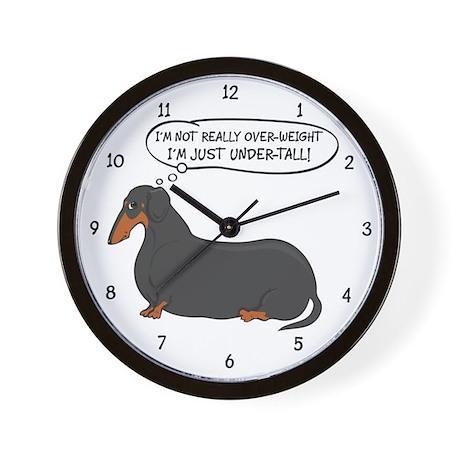 Undertall Weiner Dog (BT) Wall Clock