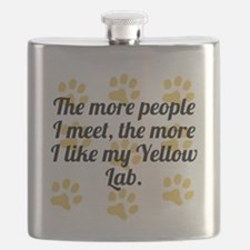 The More I Like My Yellow Lab Flask