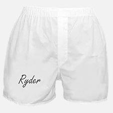 Ryder surname artistic design Boxer Shorts