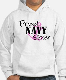 Navy Proud Sister pink Anchor Jumper Hoody
