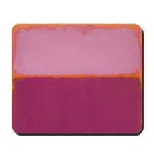 ROTHKO PINK RASBERRY AND ORANGE Mousepad