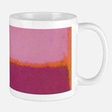 ROTHKO PINK RASBERRY AND ORANGE Mugs