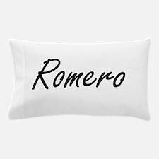 Romero surname artistic design Pillow Case