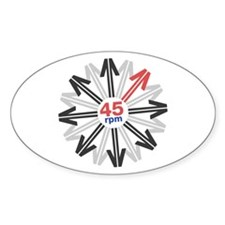 45rpm Mod Arrows Oval Decal