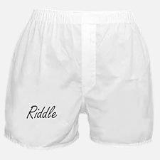 Riddle surname artistic design Boxer Shorts