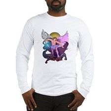 Micheal Defeats Satan Long Sleeve T-Shirt