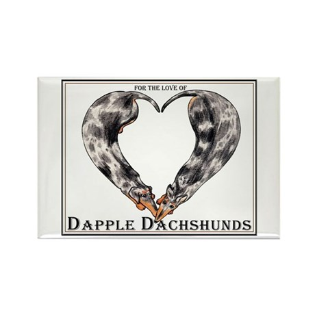 Love of Dapple Dachshunds Rectangle Magnet (10 pac