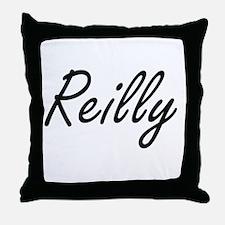 Reilly surname artistic design Throw Pillow
