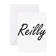 Reilly surname artistic design Greeting Cards