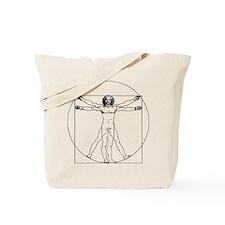 Da Vinci Vitruvian Man Tote Bag