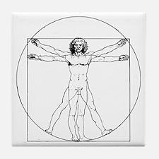 Da Vinci Vitruvian Man Tile Coaster