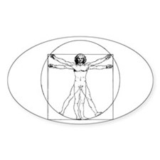 Da Vinci Vitruvian Man Oval Decal