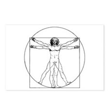 Da Vinci Vitruvian Man Postcards (Package of 8)