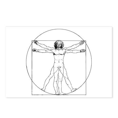 Da Vinci Vitruvian Man Postcards (Package of 8)