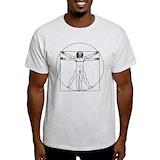 Leonardo da vinci vitruvian man shirt Mens Light T-shirts