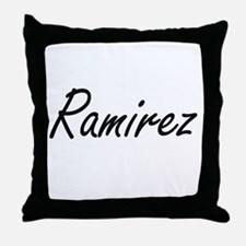 Ramirez surname artistic design Throw Pillow