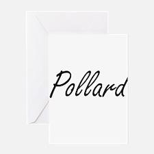 Pollard surname artistic design Greeting Cards