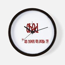 Chad on Bush tv Wall Clock