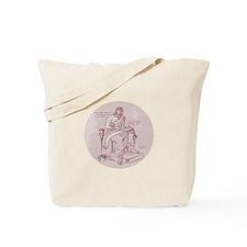 Evangelist Writing Scroll Etching Tote Bag