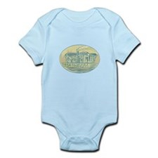Log Cabin Resort Oval Etching Body Suit