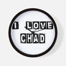 Cute Chad africa Wall Clock