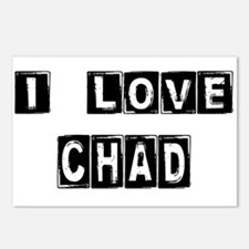 Cute Chad flag Postcards (Package of 8)
