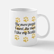 The More I Like My Scottie Mugs