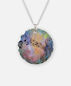 Abstract Music Necklace