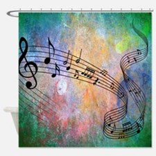 Abstract Music Shower Curtain