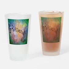 Abstract Music Drinking Glass