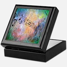 Abstract Music Keepsake Box