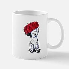 KiniArt Dalmatian In Red Small Small Mug