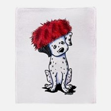 KiniArt Dalmatian In Red Throw Blanket