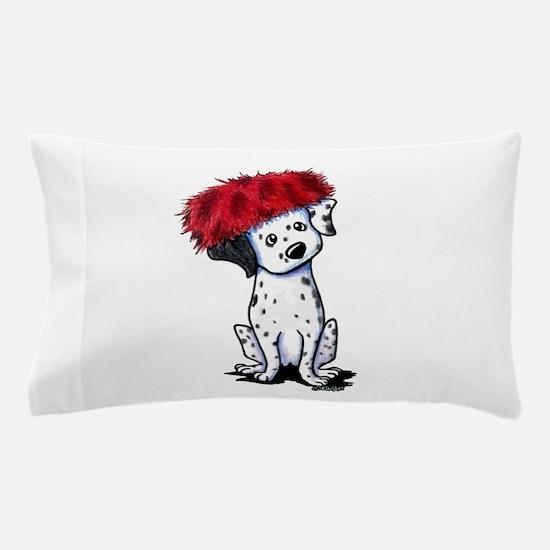KiniArt Dalmatian In Red Pillow Case