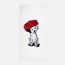 KiniArt Dalmatian In Red Beach Towel