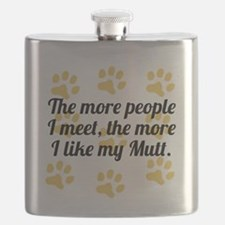 The More I Like My Mutt Flask