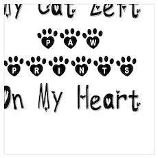 My Cat Left Paw Prints Poster