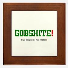 GOBSHITE - ENGlISH GRAMMAR AS SHE IS S Framed Tile