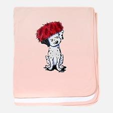KiniArt Dalmatian In Red baby blanket