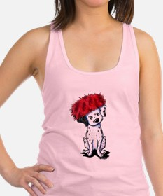 KiniArt Dalmatian In Red Racerback Tank Top