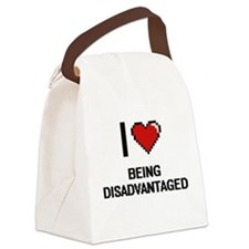 I Love Being Disadvantaged Digiti Canvas Lunch Bag